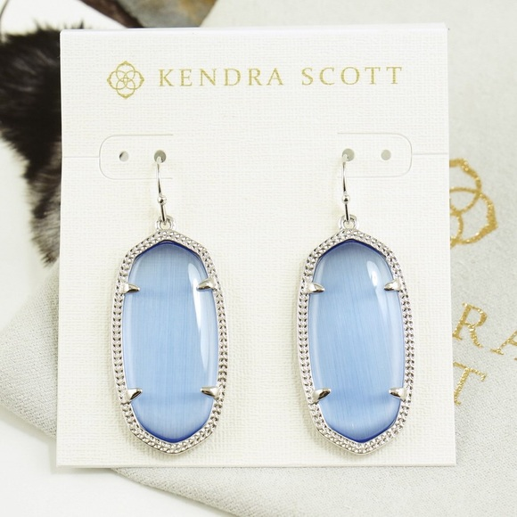 270b32603 Kendra Scott Jewelry | Elle Earrings Periwinkle Silver Blue | Poshmark